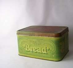 vintage bread box