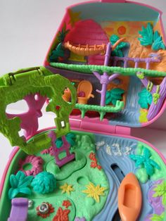 Vintage Polly Pocket Jungle Adventure Bluebird Toys by daravaddey. Had this one too, I still have the little monkey somewhere!