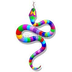 Year of the Snake! Psychedelic Rainbow Snake-Vector © bluedarkat     http://us.fotolia.com/id/47850744/partner/200929677