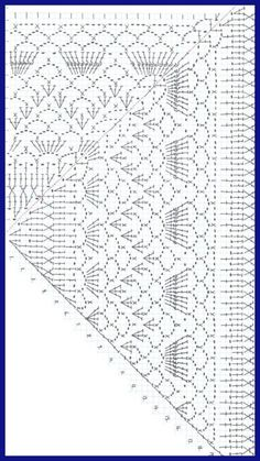 crocheted k items that sell Crochet shawl pattern. The pattern for the brooch is NOT INCLUDED. *********************************************** The pattern is written in Englis Poncho Crochet, Crochet Shawl Diagram, Crochet Chart, Crochet Scarves, Crochet Clothes, Crochet Stitches, Crochet Hooks, Crochet Lace, Crochet Doilies