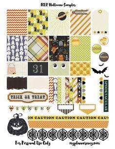 Free Printable Halloween Sampler for the Erin Condren Life Planner