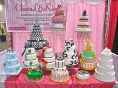 Wedding cakes on display at DulhanExpo South Asian Bridal Show