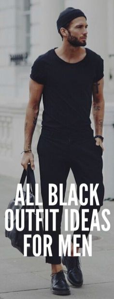 All BLACK CASUAL Outfit Ideas For Men #mensfashion #fashion #style #fallfashion