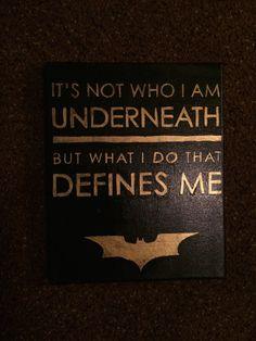 Custom Batman Quote Canvas from the Custom Canvas Shop!