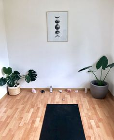 how to set up your own yoga space yoga props crystals candles yoga mat plants