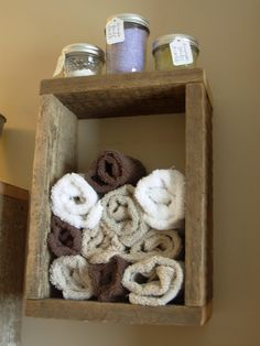 barn wood cubby for bathroom - Craft ~ Your ~ Home