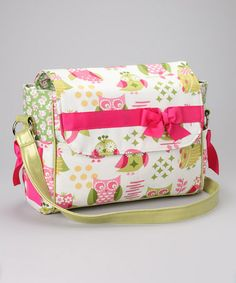Take a look at this Hoot Owls Large Diaper Messenger Bag by Caught Ya Lookin' on #zulily today!