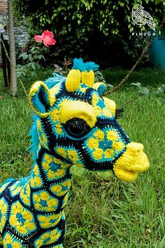 African Flower Crochet Pattern ~ Notice Further Techniques On Wonderful 50 Models African Flower Crochet Pattern with Regard to Specific Crochet Pattern African Flower Hexagon Crochet Baby Blanket On African Flower Crochet Pattern African Flower Crochet Animals, Crochet Animal Patterns, Stuffed Animal Patterns, Amigurumi Patterns, Crochet Quilt, Baby Blanket Crochet, Crochet Yarn, Crochet Flowers, Hexagon Crochet