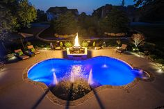 1000 images about yard on pinterest zero entry pool for Pool design mcmurray