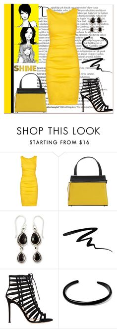 """Untitled #639"" by gallant81 ❤ liked on Polyvore featuring Balmain, Nicole Miller, CÉLINE, NOVICA, Eyeko, Gianvito Rossi and George Frost"