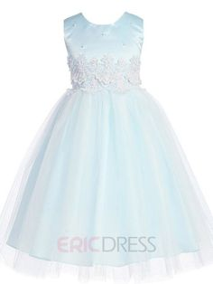 ericdress.com offers high quality  Beautiful Jewel Appliques Flower Girl Dress Flower Girl Party Dresses   unit price of $ 74.09.