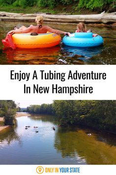 Spend the summer relaxing on the water with Saco Bound Tubing in New Hampshire. Enjoy a clear, cool, and calm river that's perfect for a tubing or kayaking adventure. This day trip is suitable for family fun. New Hampshire Attractions, Saco River, Kayak Adventures, Swimming Holes, Paradise Island, Summer Travel, Rafting, Day Trip, State Parks
