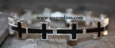 Giddy Up Glamour  Black Cross Stretch Bracelet  $14.95
