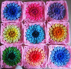 Made with the sunburst granny squares