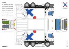 rally cars paper models | YorLogo® - Bouwplaat Vuilniswagen DAF Irado Schiedam