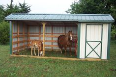 Plans for horse loafing sheds What is a loafing shed? - barn plans and horse facility, What is a loafing shed.