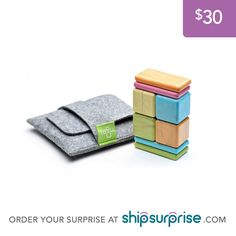 This pocket pouch magnetic wooden block set just shipped! What will your surprise be? Set the price and preferences when you order. #happymail #santa #giftidea