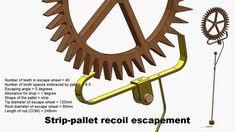 Strip-pallet Recoil Escapement