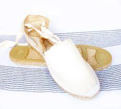 IBIZA Lace Up Espadrilles Organic Cotton Women by IBICENCAS #espadrilles #wedge #hippie #sandals #shoes #handmade #summer #happy #sun #beach #totalwhite #purewhite #white #vegan #organic