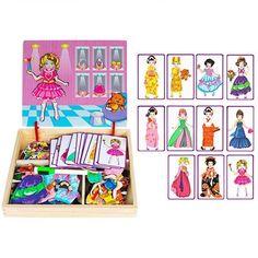 Magnetic puzzle box preschool education toys - princess