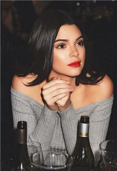 Kendall Jenner makeup inspiration - red lipstick