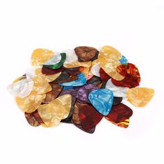 Lots of 100pcs New Thin Guitar Picks Parts Acoustic Celluloid Plectrum Multicolor 0.46mm Stringed Instrument Accessories