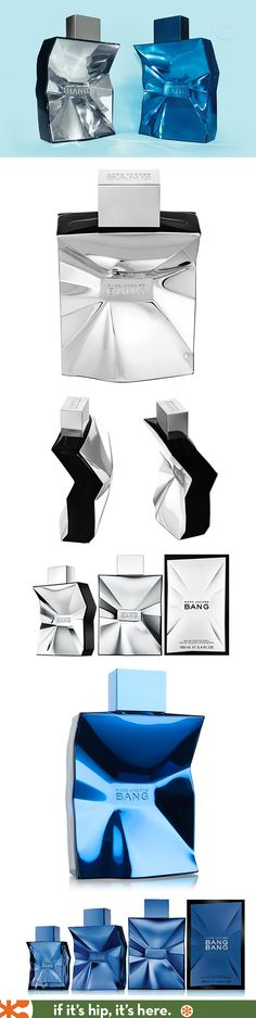 Marc Jacob's Bang and now, Bang Bang, Bottles. Beautiful and very similar to the Michalsky fragrance bottles.