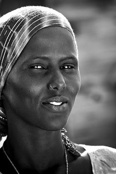 Woman in Khor Angar, Djibouti by Eric Lafforgue
