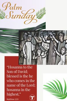 Today, we enter deeply into the heart of Holy Week. May your Holy Week journey be filled with the Spirit. Hosanna In The Highest, Son Of David, Palm Sunday, Holy Week, Lent, This Is Us, Blessed, Journey, Spirit