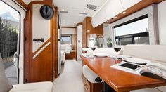 2017 Serenity S24CB shown in Chestnut Cherry Cabinetry with optional Glamour Package and Reflections Décor