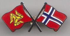 Isle of Man Manx Norway Friendship Flag Pin Badge