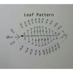 Схема вязания листика розы