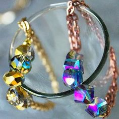 These quick Chic and Sleek DIY Bracelets are the perfect new DIY jewelry project for you to do. With simple to follow instructions on how to make bracelets, you will have these crystal and chain bracelets finished in less than an hour.