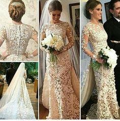 Vestido de noiva mais lindo que já vi...  Estilista Junior Samaela..  Noiva Victoria Linhares