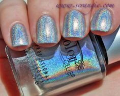 Scrangie: Color Club Halo Hues Holographic Nail Polish Collection Spring 2013 - Harp on It - CHECK!