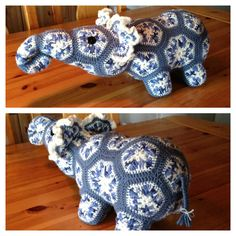 African flower elephant that I made. Pattern by Heidi Bears