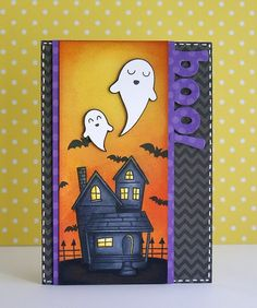 """http://mypaperjourney.blogspot.com/2013/11/happy-halloween.html. Lawn Fawn """"Happy Haunting"""""""