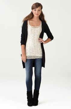 Frenchi Cardigan, h.i.p. Tunic & Vigoss Jeans from Nordstrom's