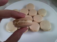 Coffee hazelnut macarons