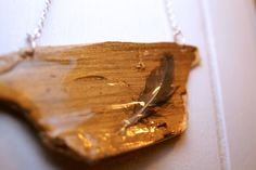 Tree Shard Necklace- Light as a Feather, Stiff as a Board, OOAK $20.00 @thecraftstar