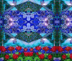 Midsummer Zodiac-ed-ed-ed fabric by cherb on Spoonflower - custom fabric