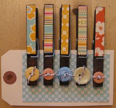 Cute clothes pins. Cute way to clip chip bags.Set #2 by nikimaki, via Flickr