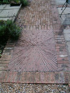 nice take on traditional Edwardian geometry for front garden path Garden Floor, Garden Paving, Mosaic Garden, Garden Stones, Garden Paths, Lawn And Garden, Garden Landscaping, Contemporary Garden Design, Landscape Design