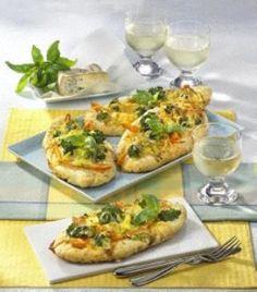 Das Rezept für Mini-Pizza mit Gorgonzola und weitere kostenlose Rezepte auf LECKER.de