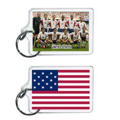 United States Soccer Flag 2014 Team Player Acrylic Keychain 2 x 1 | www.balligifts.com