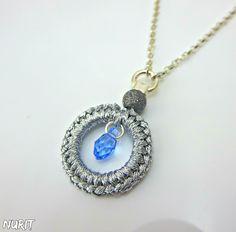 #Swarovski, #Sterling, #silver, #necklace https://www.etsy.com/uk/listing/215374803/swarovski-necklace-light-blue-crystal