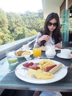 Breakfast at the roof cafe  Padma Hotel, Bandung