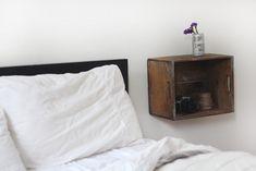 Post image for Decor Trick: Instant Wooden Shelf Crate Nightstand, Bedside Shelf, Floating Nightstand, Bedside Tables, Crate Shelves, Wooden Shelves, Wall Shelves, Wood Shelf, Vintage Wooden Crates