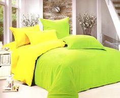 #Спално #бельо за вашето легло в два цвята - свежо зелено и приятно жълто…