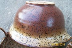 Coyote Archie's Base gradient (heaviest at rim) sprayed over Mocha Shino (poured) on Speckled Buff clay body